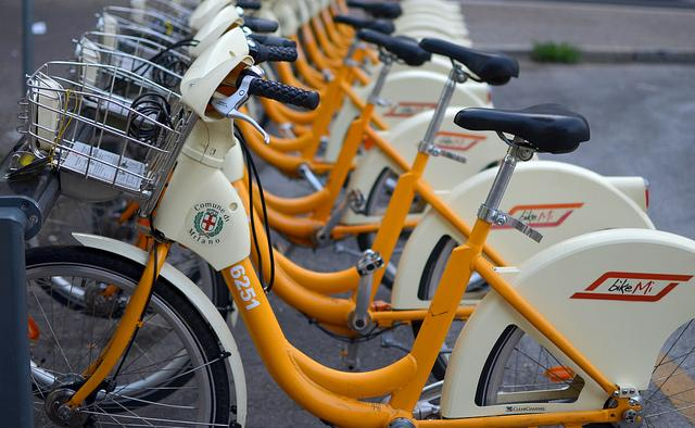 Austin could see bike-share programs like this one in Milan some time this year.