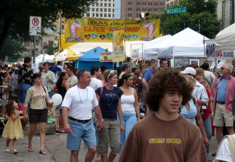 The Pecan Street Festival in 2007.