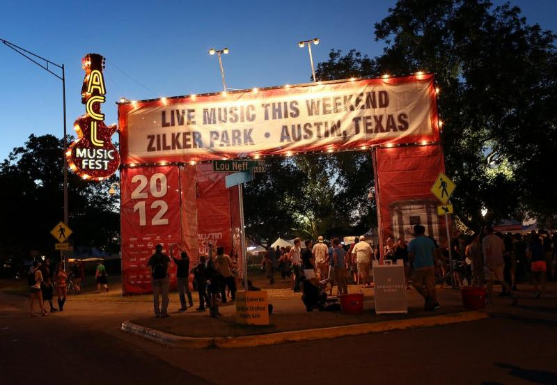 The gates outside ACL Fest last year. Organizers announced the lineup for the fest's two-weekends tonight.
