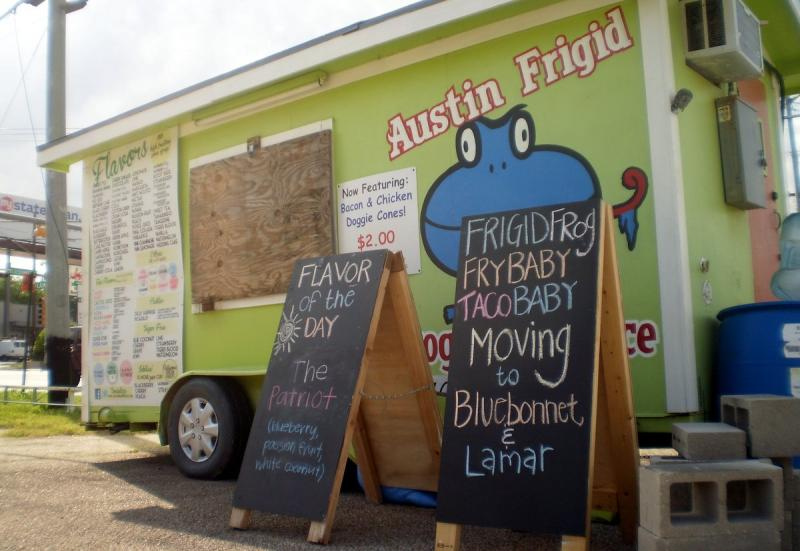 The owner of Austin Frigid Frog Shaved Ice hopes his customers will follow him to South Lamar.