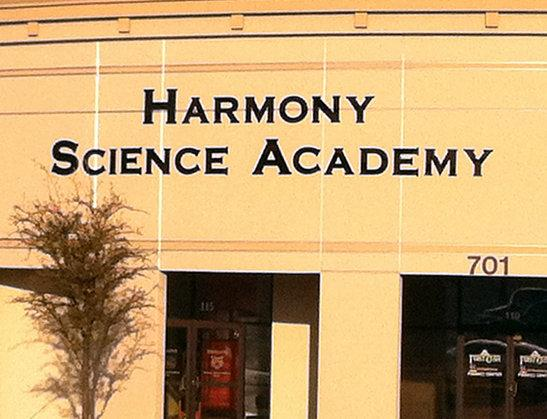 Harmony Science Academy, ranked top public high school by Children at Risk.