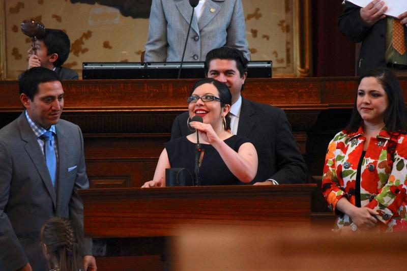 The House Mexican American Legislative Caucus honors State Rep. Mary González as freshman of the 83rd session on May 27, 2013.