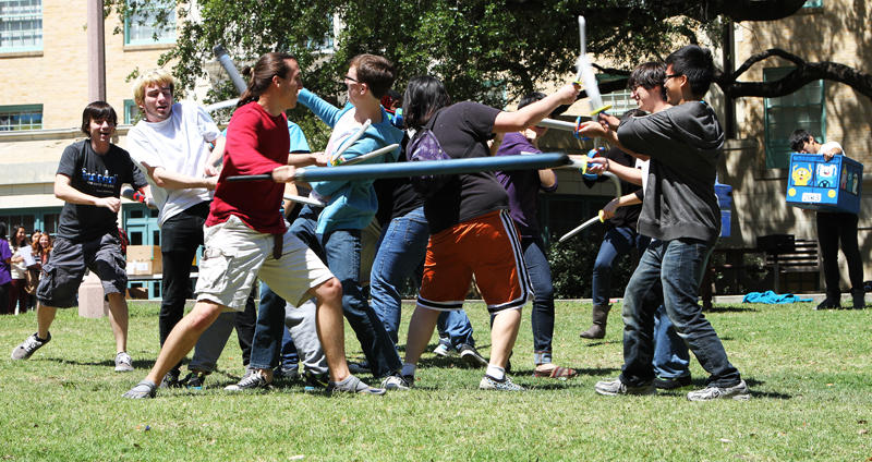 University of Texas students at Form Sword Friday today.