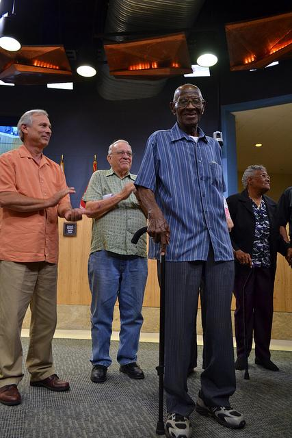 Richard Overton, 107, is the oldest living veteran in Texas. He was honored for his service at a May 9th Austin City Council meeting