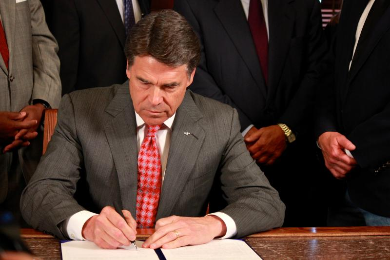 Governor Perry vetoed Public Integrity Unity money on Friday.