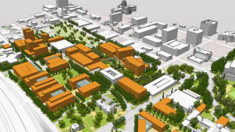 UT's proposed medical school buildout could remove the Frank Erwin Center.