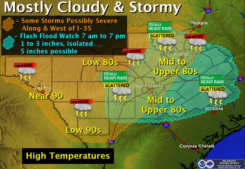 Austin could be in for severe weather later today.