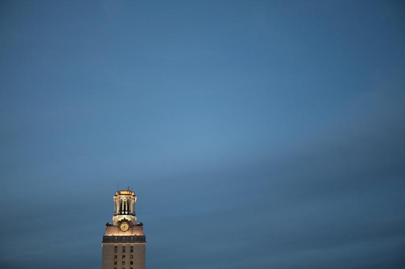 Tonight, the tower will be dimmed as part of UT Remembers.