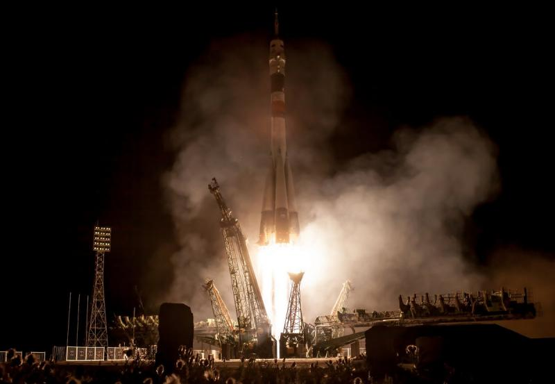 The latest International Space Station crew (including Nyberg) blasted off from Kazakhstan on May 29, 2013 (Kazakh time).