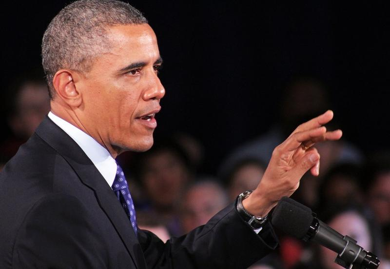 President Obama speaking at Manor New Tech High School today.