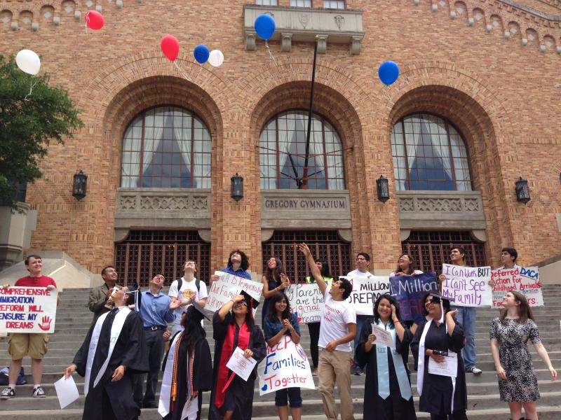 UT's University Leadership Initiative, celebrated the graduation of four undocumented seniors this semester.