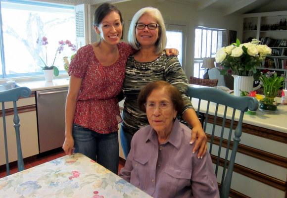 Janie Gaytan Martinez, right,  died Saturday. She's pictured with her granddaughter Audrey Glickert and daughter-in-law Estella Martinez.