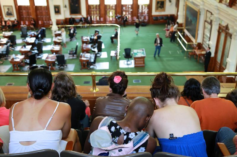 People filled the Senate gallery during the 2013 special session filibuster on June 25, 2013.