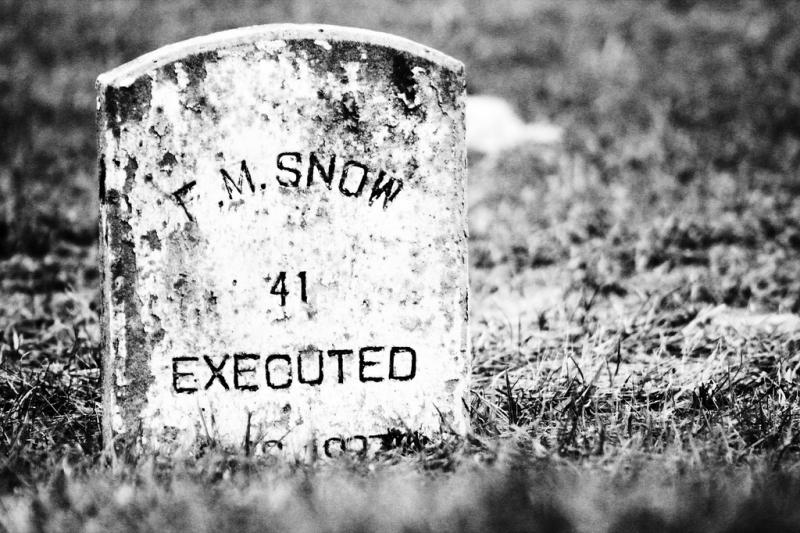 "Indigent inmates are buried at the state cemetery in Huntsville. The markers of death row inmates are clearly identified either by a letter X, or by the word ""executed."""