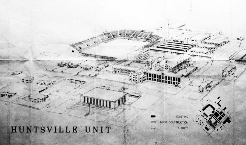 The Huntsville Unit is now part of a larger consortium of prisons. The original building with the clock used to look very different. It looked more like a church or a castle. There was a time during the Civil War that Yankee prisoners were held there.
