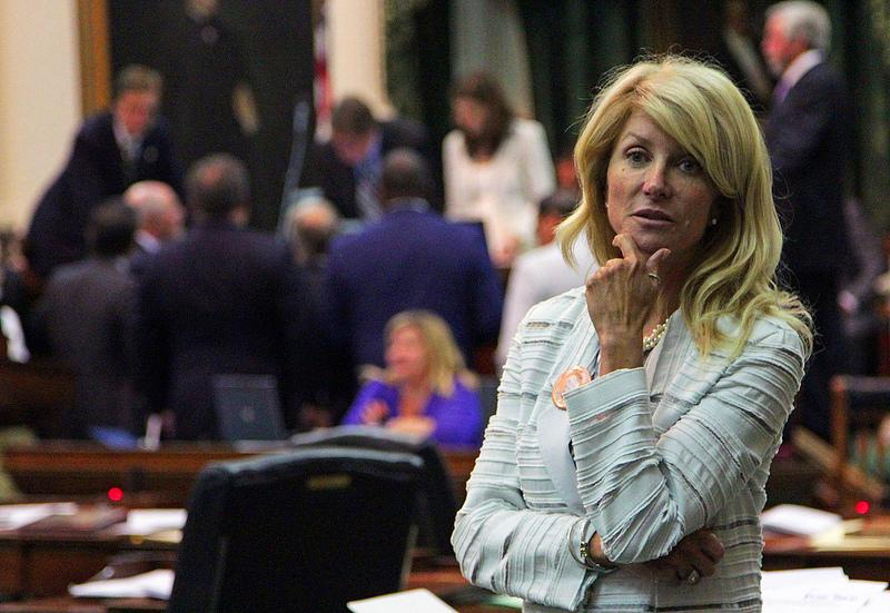 Sen. Wendy Davis in the Senate Chambers this week. A new special session, relating to abortion, will begin on Monday.
