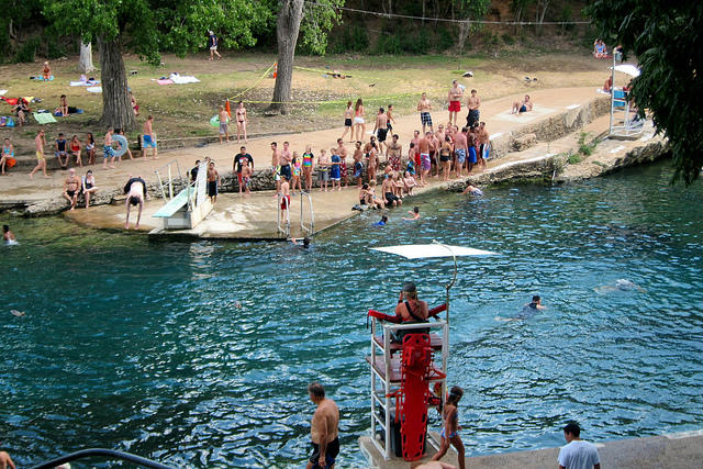 Barton Springs is one of Austin's popular swimming destinations.