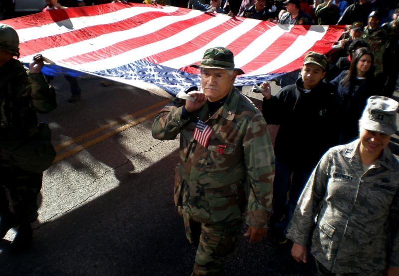 Austin's Veterans Day parade in 2011. Texas is receiving a federal grant to help with veterans' employment.