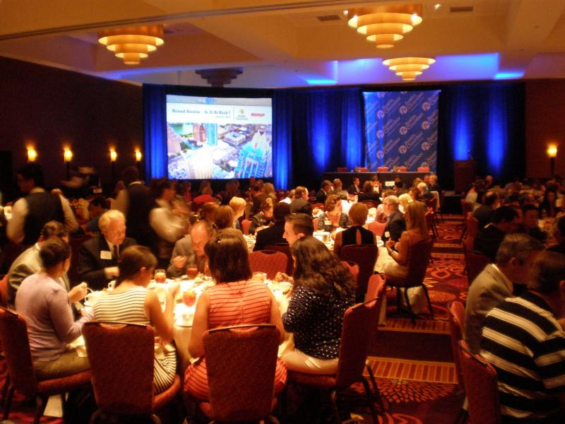 Members of the Austin Chamber of Commerce met on June 6 to discuss the city's future.
