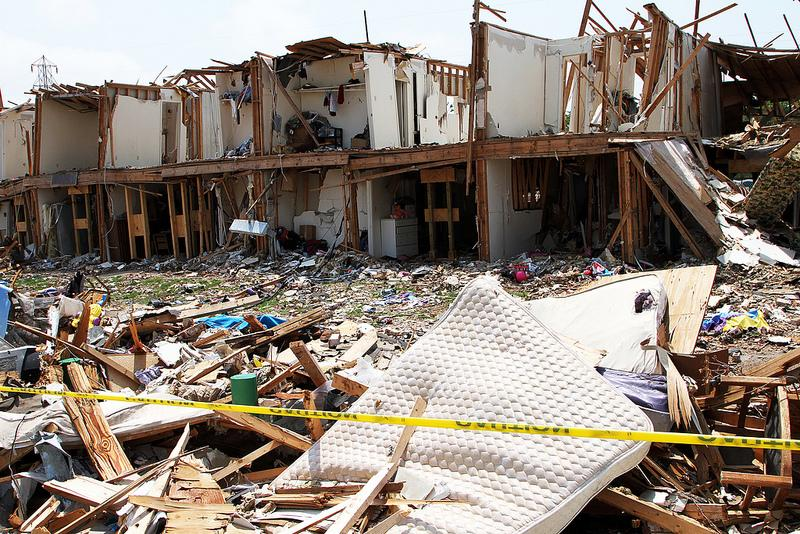 A building destroyed by the fertilizer plant explosion in West