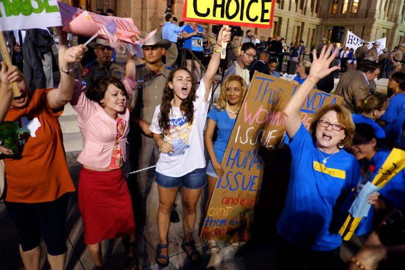 Thousands of activists on both sides of the abortion debate convened on the south steps of the Capitol on Monday. Protest has been vocal in the legislature's special sessions.
