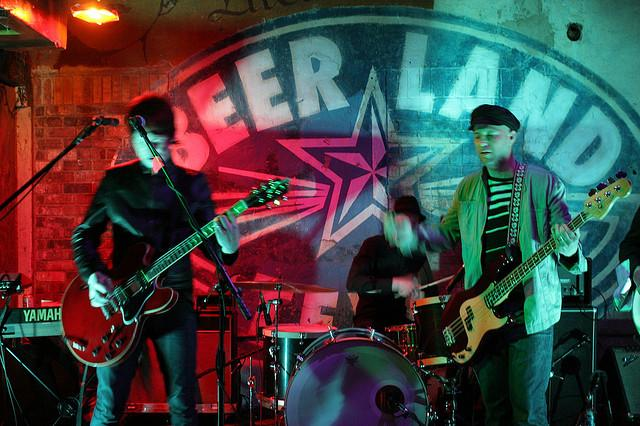 The Strange Attractors play a gig at Beerland in 2008. Beerland's Red River location ranks high on the hipster heat map.