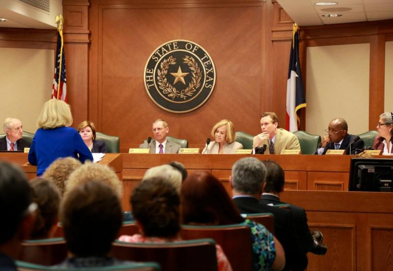 Members of the Texas House State Affairs Committee ask questions of State Rep. Jodie Laubenberg, author of House Bill 2, the abortion-related measure.