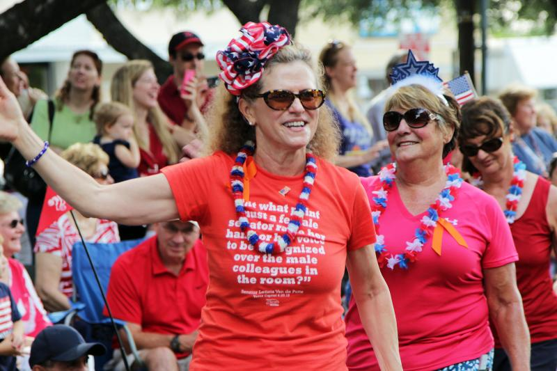 State Rep. Donna Howard, D-Austin, showed up to support her district's parade.