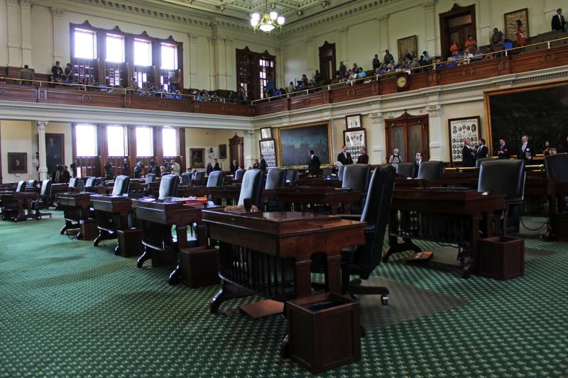 The floor of the Texas Senate before debate began.