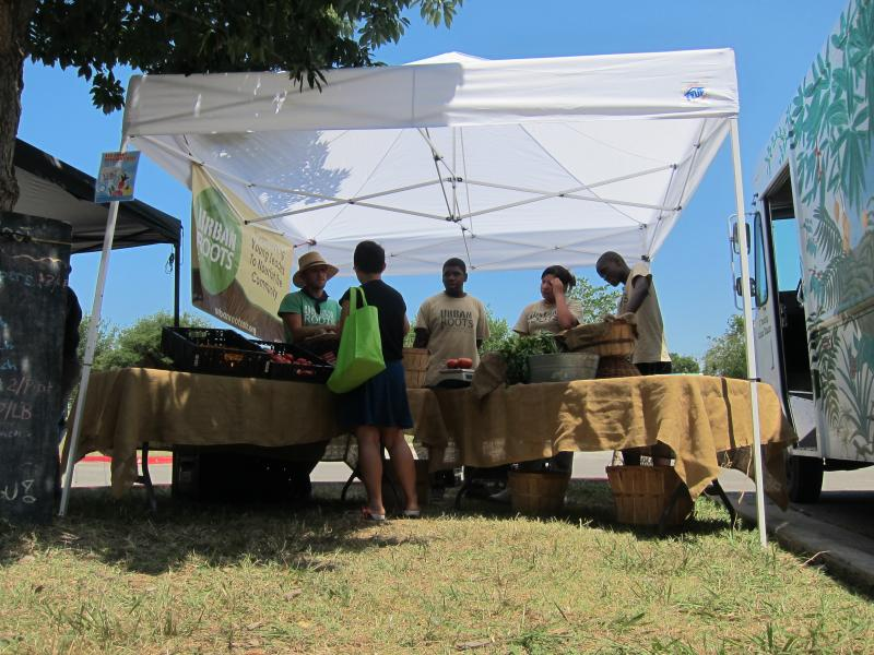 The Dove Springs Neighborhood Farm Stand pilot project is open for three hours a week for much of the summer.