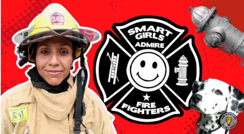 """Smart girls become firefighters,"" Xochitl Hernandez, AFD's firefighter said in the webshow."
