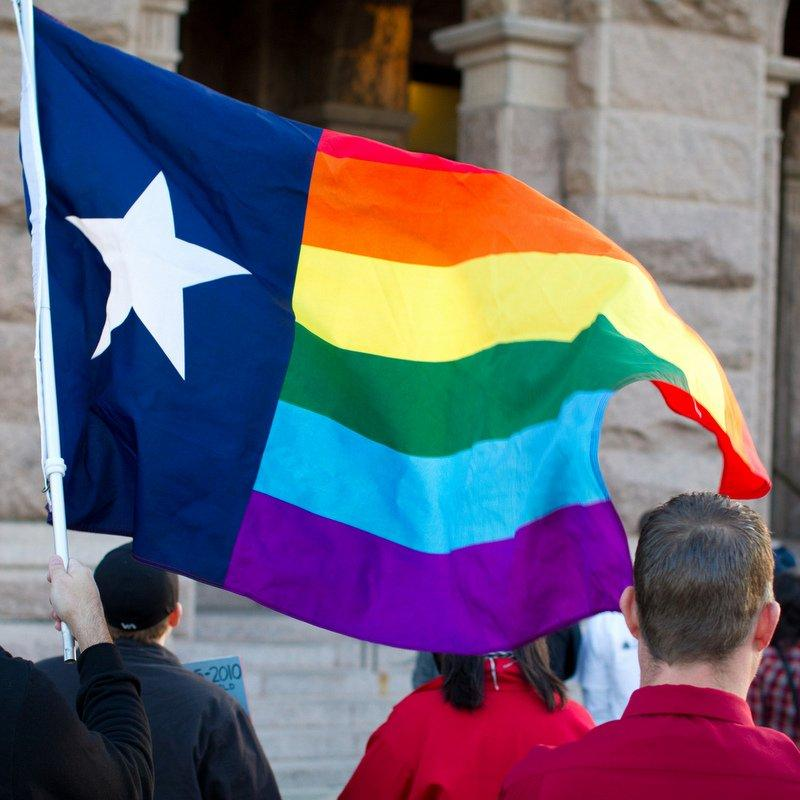 Those supporting expanded rights for same-sex couples gathered at the Texas Capitol this March. In Texas same-sex partnerships are not recognized by law.