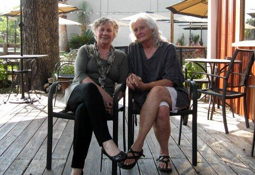 Jo Jensen (L) and Brooks Kasson will host Austin's first Death Cafe later this month.
