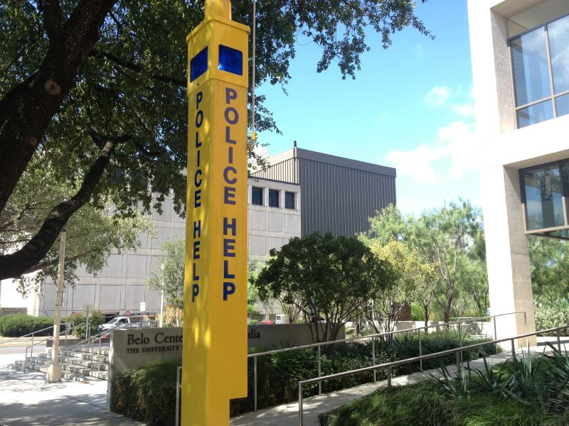 UTPD urges people walking at night to be aware of the yellow boxes located on campus. They are equipped with emergency phones that can put users in direct contact with UTPD and send out their location.