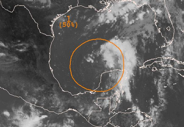 A low-pressure formation in the Gulf of Mexico could bring rain to Austin early next week.