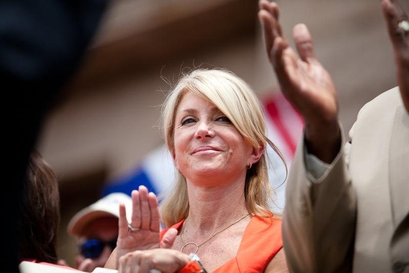 "State Sen. Wendy Davis, D-Fort Worth, at a ""Stand With Texas Women"" rally at the state Capitol."