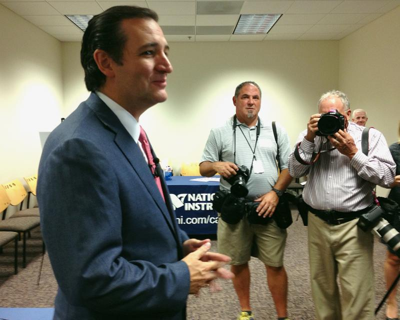 U.S. Sen. Ted Cruz, R-TX, spoke against the Affordable Care Act at a press conference in Austin on Aug. 22, 2013.