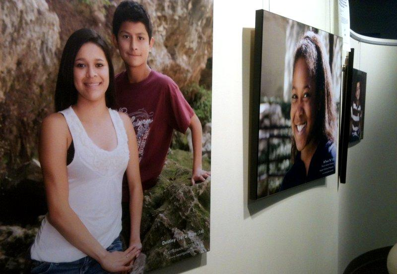 There were seven empty spots in the Heart Gallery displayed at the Lady Bird Lake YMCA. Those children were recently adopted. About 600 more are available for adoption in the region.
