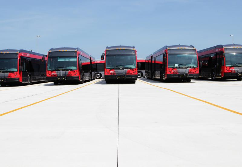 Capital Metro's new fleet of MetroRapid buses, pictured above, wouild