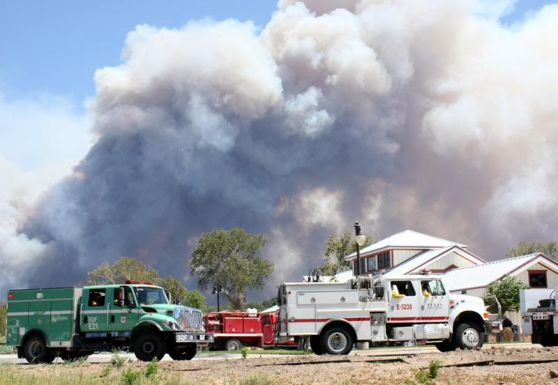 A scene from the Bastrop fire response on Sept. 5, 2011. Wildfires are one of the most likely disaster scenarios for the Central Texas region.