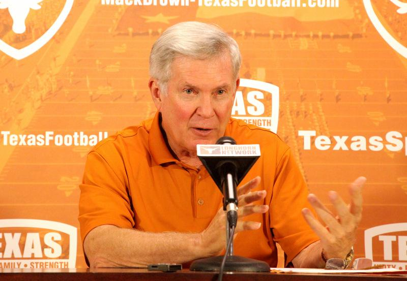 UT football coach Mack Brown says he knows he's in the hotseat, but promises he is working to fix problems.
