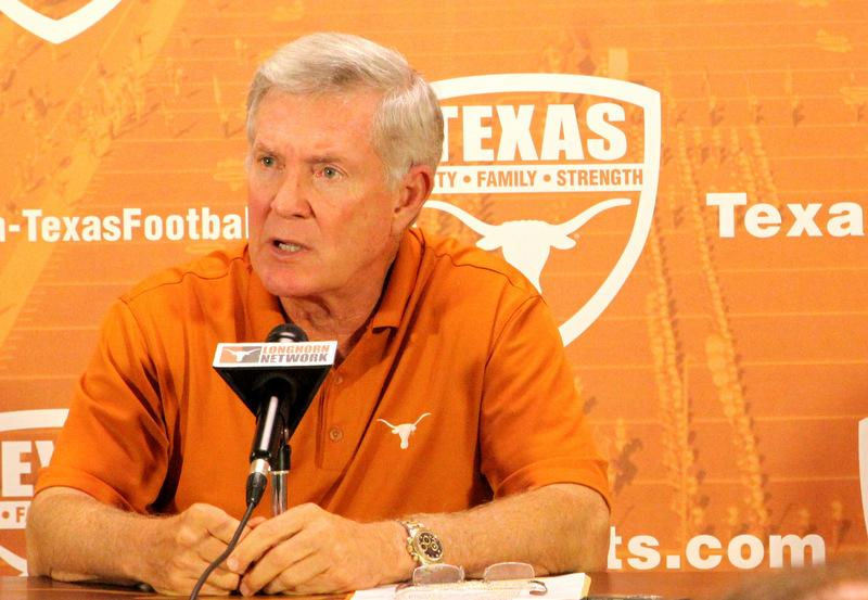 "Longhorns head coach Mack Brown says running back coach Larry Porter ""absolutely denies"" paying players during his time at Oklahoma State University."