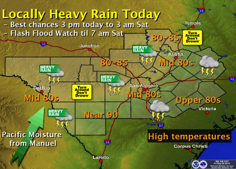 Heavy rains are expected around rush hour this afternoon.