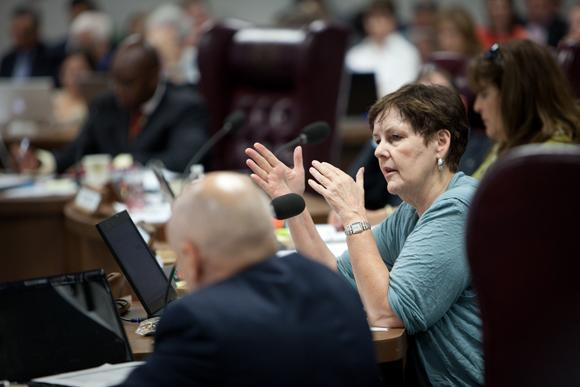 State Board of Education member Patricia Hardy, photographed in 2011. The board is wrestling with high school course graduation requirements.