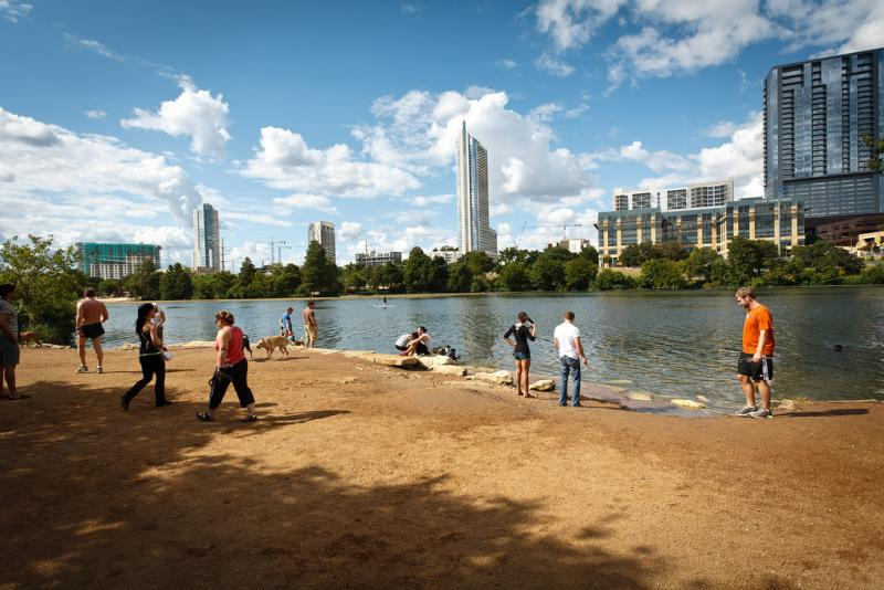 Improvements to Auditorium Shores, scheduled to begin in 2014, including moving the area's off-leash zone.