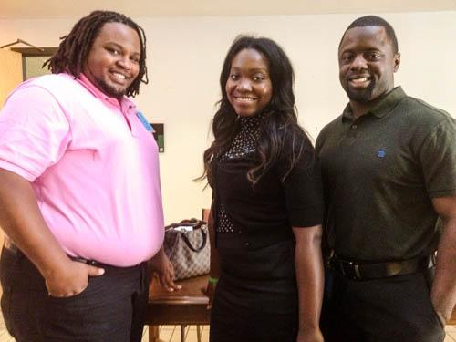 From left to right: Sam Brown, Kursten Berry and Demetrio Selman are navigators who have been trained by Houston nonprofit Change Happens.