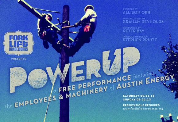 Power UP is an arts project featuring eatures dozens of workers from all parts of Austin Energy.
