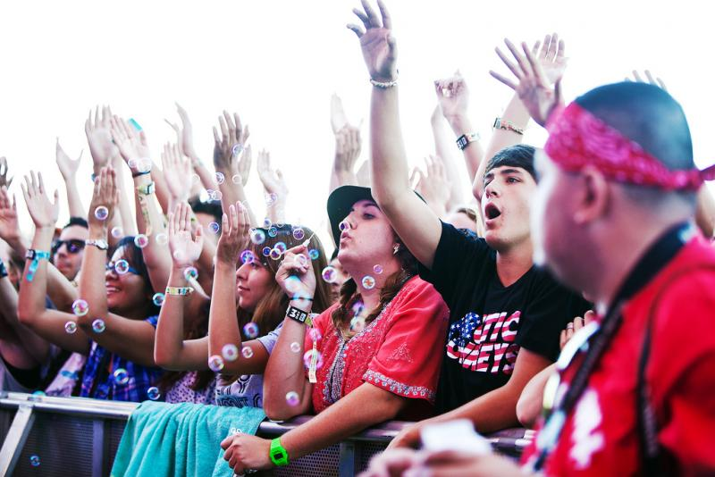 Festival-goers at this year's Austin City Limits Music Festival.