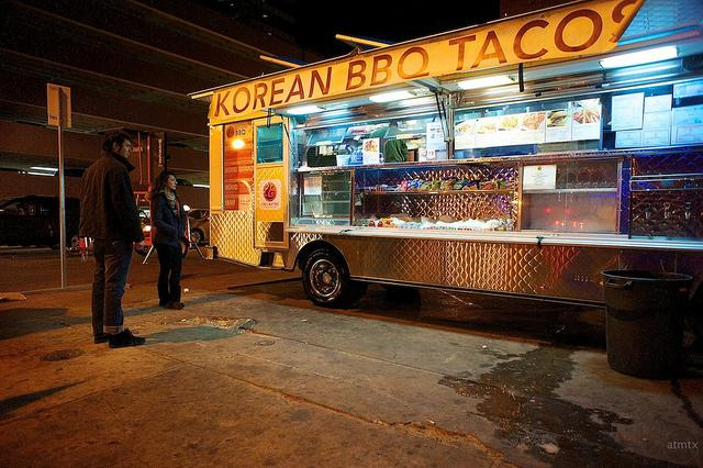 Korean/Mexican fusion food vendor Chi'Lantro is one of the participants in Truck by Truckwest.