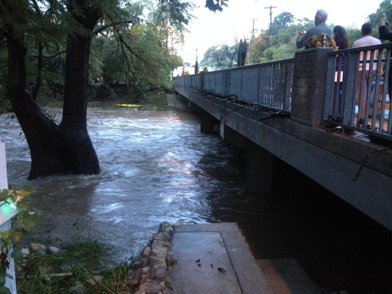 In Wimberley, residents look upon the rapid water in Cypress Creek.